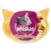 8 x Whiskas Temptations Chicken & Cheese 60g