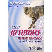 4 x Bob Martin Ultimate Odour Control Non Clumping Cat Litter 4ltr