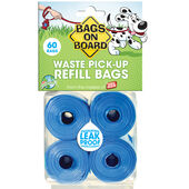 Bags On Board Biodegradable Refill Rolls Blue Bags (60 Bags)