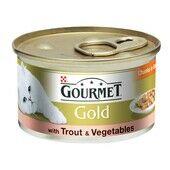 12 x Gourmet Gold Can Trout & Veg Cig 85g