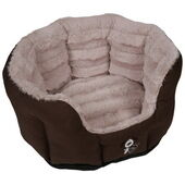 HappyPet Yap Fabriano Ultra Luxury Brown Oval Dog bed