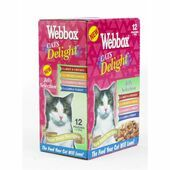 48 x Webbox Cats Delight Pouches Jelly Selection 100g