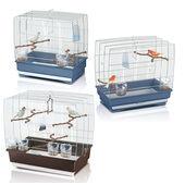 Imac Irene Set 2-3-4 Bird Cages Chrome