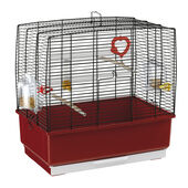 Ferplast Rekord 3 Bird Cage Black & Red 49x30x48.5cm