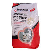 5 x Snowflake Premium Wood Based Cat Litter - 5ltr