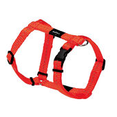 Rogz Lumberjack Reflective Nylon Harness Orange 25mm