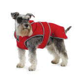 Muddy Paws Stormguard with Fleece Lining Coat Red