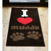 Pet Rebellion I Love Muddy Paws Door Mat 40x70cm (16x27.5