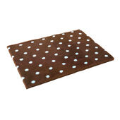 Non Slip Vetbed Brown Polka Dot