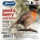 8 x Johnson's Wild Bird Suet Tray Seed & Berry 300g