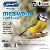 8 x Johnson's Wild Bird Suet Tray Mealworm 300g