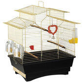 Ferplast Pagoda Bird Cage Brass 41x25x50cm Black