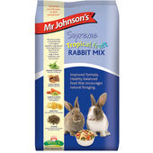 6 x Mr Johnson\'s Supreme Rabbit Tropical Fruit Mix 900g