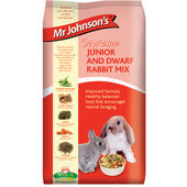 6 x Mr Johnson\'s Supreme Junior & Dwarf Rabbit Mix 900g