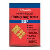 10 x Feelwells Healthy Natural Chunky Dog Treats Beef 250g
