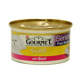 12 x Gourmet Gold Senior Pate With Beef 85g