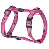 Rogz Armed Response Nylon Harness Pink Bone 25mm