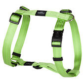 Rogz Lumberjack Reflective Nylon Harness Lime Green 25mm
