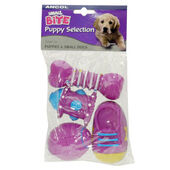 24 x Ancol Small Bite Puppy Vinyl Selection Assorted 8cm