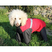 Cosipet Waterproof Dog Trouser Suit in Extreme Red