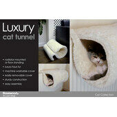 Rosewood Radiator Luxury Mounted Cat Tunnel Bed