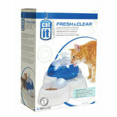 Catit Fresh & Clear Cat Drinking Fountain With Food Bowl
