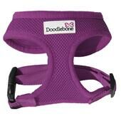 Purple Doodlebone Air Mesh Dog Harness