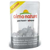 24 x Almo Nature Classic Cat Pouch Chicken & White Bait 55g