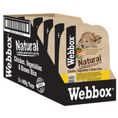 7 x Webbox Natural Trays Dog Chicken Brown Rice & Veg 400g