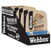 7 x Webbox Natural Trays Dog Lamb Brown Rice & Veg 400g