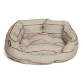Danish Design Heritage Red & Cream Stripe Herringbone Deluxe Slumber Dog Bed