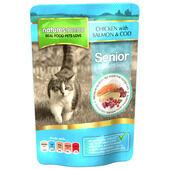 48 x Natures Menu Cat Senior Pouch Chicken Salmon & Cod 100g