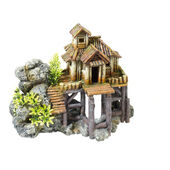 Classic Character Buildings Wood House On Rocks 230mm