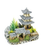 Classic Magic Of The Orient Asian Temple With Plants 185mm