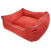 Dog Gone Smart Suede Lounger Dog Bed - Red