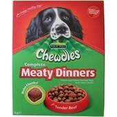 5 x Chewdles Dog Meaty Dinners Beef 1kg