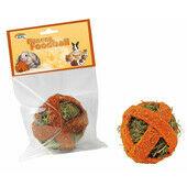 6 x Quiko Small Animal Fitness Foodball Carrot 100g