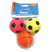 HappyPet Neon Sports Ball 3 Pack