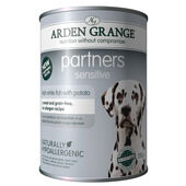 24 x 395g Arden Grange Partners Sensitive Fresh White Fish & Potato Wet Dog Food