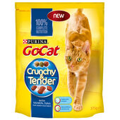 5 x Go-cat Crunchy And Tender Salmon Tuna & Veg 375g