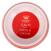 Keep Calm Melamine Drinking Bowl