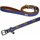 Wag N Walk Designer Leather Harness Royal Extra Small Toy/puppy