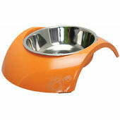 Rogz Stainless Steel Dog Bowl with Luna Orange Insert