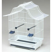 Pet Product Distribution Holly Flat Pack Wire Bird Cage Silver 56x40x64cm
