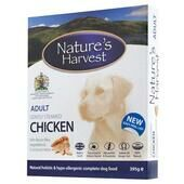 10 x Natures Harvest Adult Chicken 395g