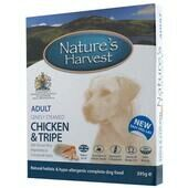 10 x Natures Harvest Adult Chicken & Tripe 395g