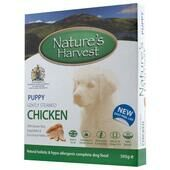 10 x Natures Harvest Puppy Chicken 395g