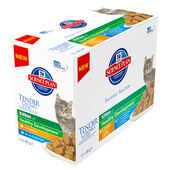 12 x 85g Hill's Science Plan Feline Chunks & Gravy Kitten Pouch Multipack