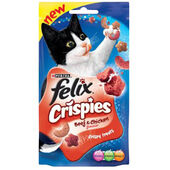8 x Felix Crispies Beef & Chicken 45g