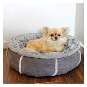 Rosewood 40 Winks Deep Plush Donut Bed Grey